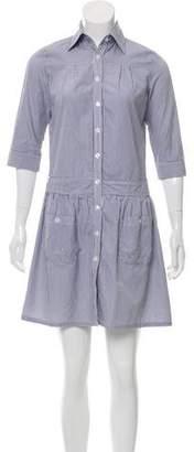 Steven Alan Long Sleeve Mini Dress