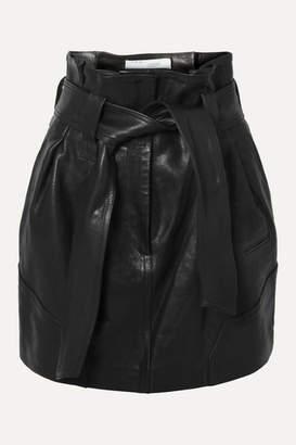 IRO Bolsy Belted Leather Mini Skirt - Black