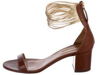 Aquazzura Spin Me Around Leather Sandals