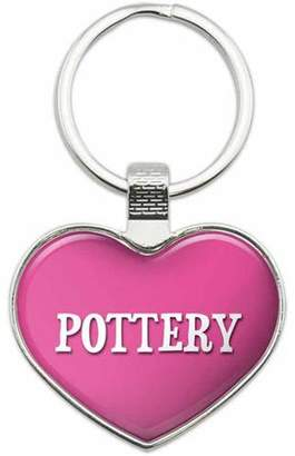 Generic Pottery - I Love Sports Hobbies Metal Heart Keychain Key Chain Ring, Multiple Colors Available
