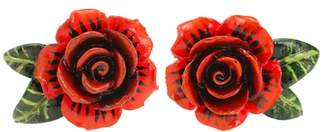 Dolce & Gabbana Rose resin earrings