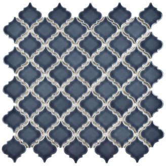 EliteTile SAMPLE - Pharsalia Porcelain Mosaic Floor and Wall Tile in Storm Gray