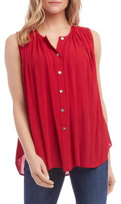 Karen Kane Sleeveless Pleated Top