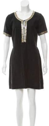 120% Lino Embellished Linen Dress w/ Tags