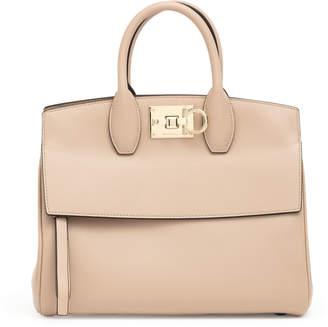 9bda543f80f2 Salvatore Ferragamo The Studio M beige leather bag