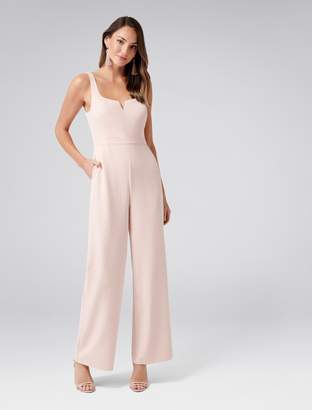 1c4dbfb5d314 Forever New Cara Wide Leg Jumpsuit - Blush - 12