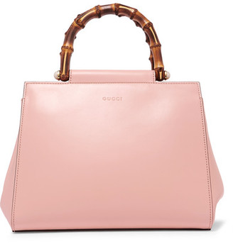 Gucci - Nymphaea Bamboo Small Leather Tote - Pink $1,980 thestylecure.com