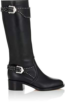 Givenchy Women's Studded-Strap Leather Knee Boots