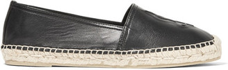 Saint Laurent - Embossed Leather Espadrilles - Black $495 thestylecure.com