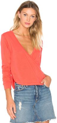 C & C California Alissa Wrap Pullover $118 thestylecure.com
