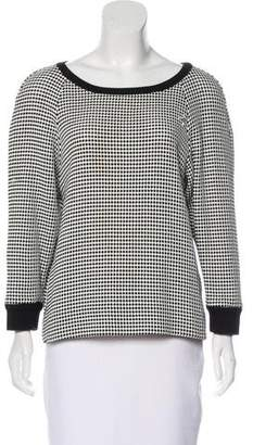 L'Agence Patterned Knit Sweater