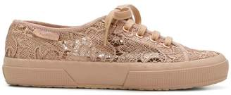 Superga lace panel sneakers