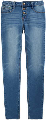 Vanilla Star Big Girls Triple-Snap Skinny Jeans