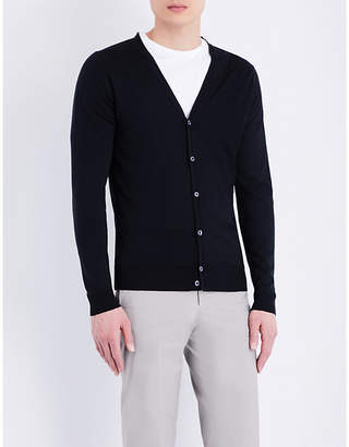 John Smedley Petworth V-neck merino wool cardigan