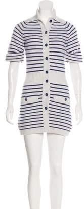 Chanel Cashmere Striped Sweater Dress