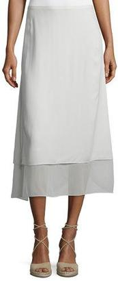 Eileen Fisher Washable Layered-Hem Skirt $328 thestylecure.com