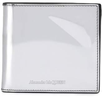 Alexander McQueen patent leather wallet