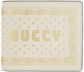 Gucci Off-White Guccy Sega Logo Bifold Wallet