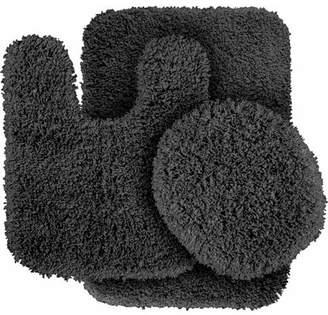 Garland Rugs Serendipity Shaggy Nylon 3-Piece Washable Bathroom Rug Set