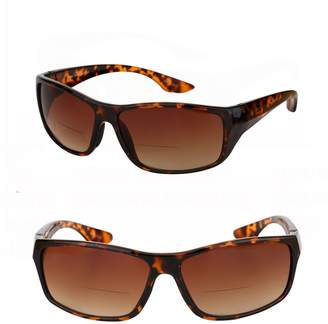Mass Vision 2 Pair of Unisex High Density (HD) Bifocal Driving Sunglasses (, 2.5)