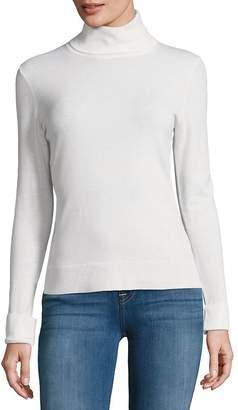Lafayette 148 New York Women's Long Sleeve Wool Turtleneck Sweater