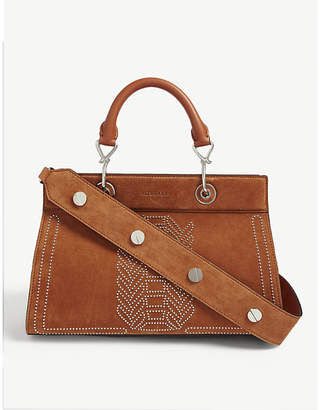 Altuzarra Caramel Brown Shadow Suede Tote Bag