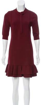Veronica Beard Mini Ruffled Dress
