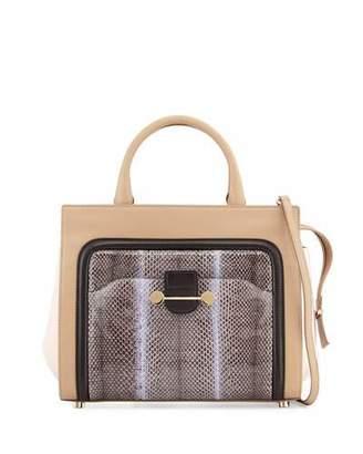 Jason Wu Daphne Watersnake & Leather Crossbody Tote Bag, Birch $2,995 thestylecure.com