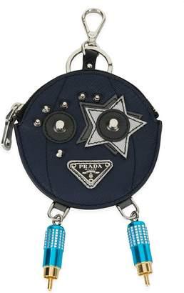 Prada circular key pouch