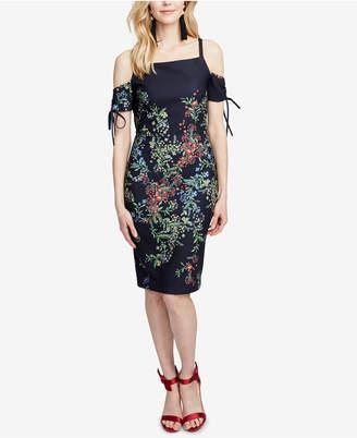Rachel Roy Floral-Print Cold-Shoulder Midi Dress