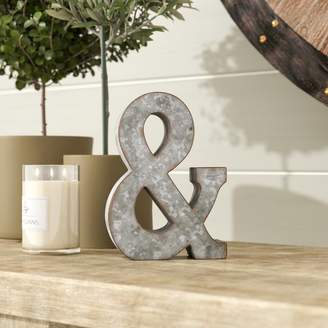 "Laurèl Foundry Modern Farmhouse 7"" Galvanized Metal Ampersand"