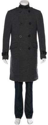 Etro Leather-Trimmed Knit Coat