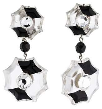 178e12007 Prada Resin, Crystal & Enamel Clip-On Earrings