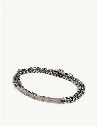 Box chain double-wrap bracelet
