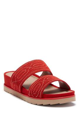 Donald J Pliner Cait Embroidered Slide Sandal