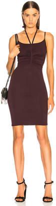 Enza Costa Halter Ruched Mini Dress