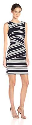 Adrianna Papell Women's Slvless Stripe Bodycon DRS