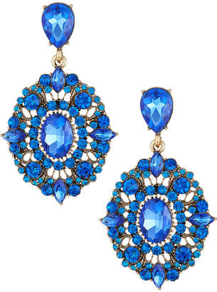 Natasha Accessories Limited Crystal Drop Earrings Blue
