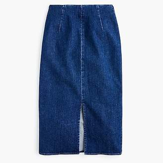 J.Crew Stretch denim pencil skirt