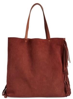 ALLSAINTS 'Club New Lea' Fringe Leather Tote $298 thestylecure.com
