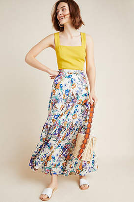 Mynah Designs Bodnant Tiered Maxi Skirt