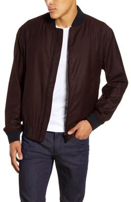 BOSS Cadus Regular Fit Wool Bomber Jacket