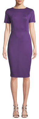 Alexia Admor French Design Short-Sleeve Scuba-Crepe Sheath Dress