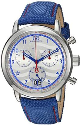 88 Rue du Rhone Men's 'Double 8 Origin' Swiss Quartz Stainless Steel and Leather Dress Watch