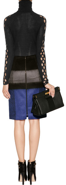 Paule Ka Wool Skirt in Cobalt