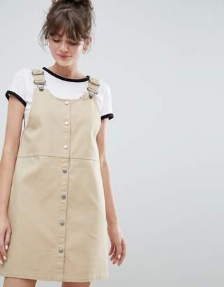 Monki Mini Overalls Dress