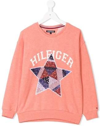 Tommy Hilfiger Junior star appliqué sweatshirt