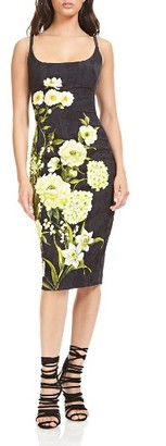 Women's Theia Floral Body-Con Dress $695 thestylecure.com