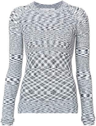 Veronica Beard geometric patterned knit top