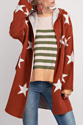 Easel Revisible Star Cardigan
